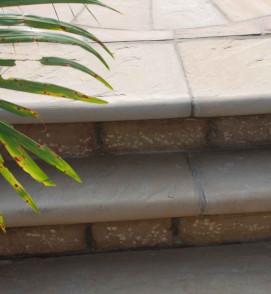 OCHRE BULLNOSED STEPS